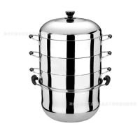 供应不锈钢节能蒸锅 不锈钢无磁单复底高效节能蒸锅 沃尔博牌