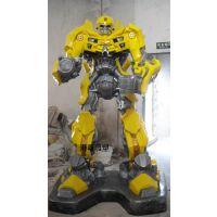 玻璃钢机器人 大黄蜂雕塑 变形金刚4雕塑 机器人展会 擎天柱雕塑