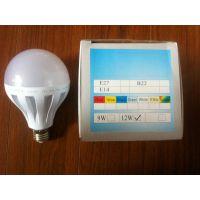 12WLED球泡灯厂家直销9wled塑料球泡灯E14/27接口正白光暖光