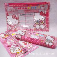 kitty猫迪士尼卡通大笔袋笔盒文具套装 超值实用文具礼包 礼物