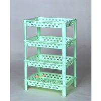 塑料收纳架 置物架 层架 四层方型组合架 适用于客厅或厨房
