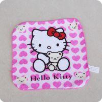 日单HelloKitty小毛巾方巾手帕儿童幼儿园毛巾小手巾 图案随机发