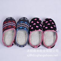 促销家居秋冬新款爱心可爱室内保暖棉拖鞋家居地板专用DFSJ034