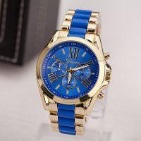 火爆全球速卖通热销合金手表男女情侣款手表GENEVA时尚合金手表