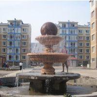 供应现货供应喷泉雕塑 晚霞红风水球喷泉