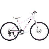 供应恩达MA8.2D全铝合金自行车女式山地车双碟刹26寸禧马诺24速