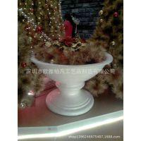 供应来图定制 玻璃钢仿古仿金花瓶