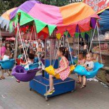 江苏12座旋转小飞鱼多少钱一台,儿童旋转秋千座椅厂家