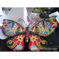 供应铁艺长期生产各种金属工艺品摆件 动物摆件 蝴蝶摆件壁饰