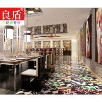 英伦复古五彩缤纷系列仿古砖拼花小花砖200x200客厅餐厅厨房吧台
