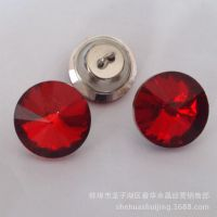 16mm彩色水晶软包扣 软包水晶扣 高档装饰水晶扣批发