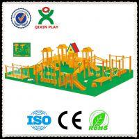 供应幼儿园户外体育大型木制玩具 儿童游戏钻爬滑滑梯 爬网独木桥