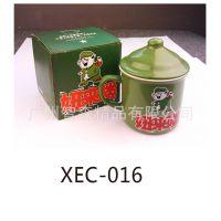 供应批发TOMATO新款绿色带盖小号复古仿搪瓷杯子妞来喽/多款