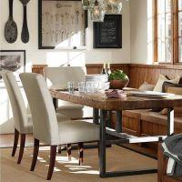 美式实木餐桌 怀旧高档餐厅铁艺餐桌多人休闲餐桌仿古实木桌子
