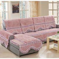 法莱绒沙发垫加厚四季沙发罩田园布艺秋冬沙发垫 防滑沙发套