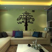 琳雅家艺幸福的生长创意家饰客厅墙面装饰贴画水晶立体墙贴