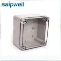 供应斯普威尔 125*125*75透明塑料防水接线盒 仪表电缆接线底盒防水盒