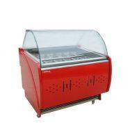 供应硬质冰淇淋机展示柜 卧式12盘冰淇淋展示柜 东贝SDF420展示柜