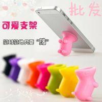苹果三星小米手机 小猪吸盘支架 迷你硅胶通用型手机支架底座