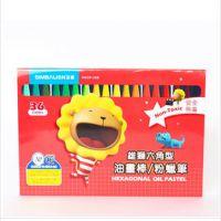 台湾雄狮儿童六角粉蜡笔 可洗 无毒 画画绘画笔 36色油画棒