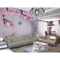 D-47大型壁画 客厅卧室电视沙发背景墙唯美桃花樱花婚房装饰墙画