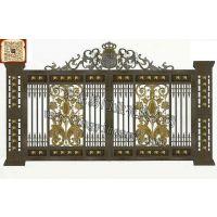 中式别墅围墙大门图片 别墅大门设计图 别墅庭院大门及围墙