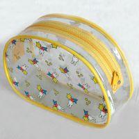 厂家定制透明PVC拉链袋,卡通彩色印刷包装袋,服装袋,礼品袋