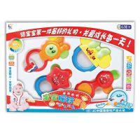 新生婴幼儿手抓牙胶摇铃 7只6只5只4只  婴儿礼盒玩具套装