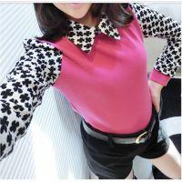 2014春款韩国代购甜美娃娃领衬衫打底衫长袖上衣秋冬款女装