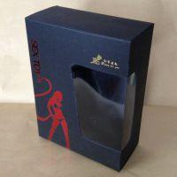 黑纸卡包装盒 烫红金制作生产加工 北京包装盒厂