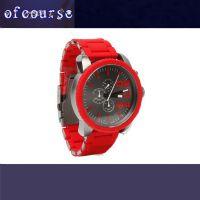 厂家直销欧美流行 原装石英三眼计时腕表 时尚阔气不锈钢包胶手表