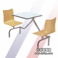 供应广东玻璃钢曲木餐桌椅品牌