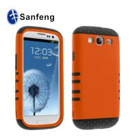 工厂低价批发 三星i9300麦克风三合一手机保护套 s3pc手机壳