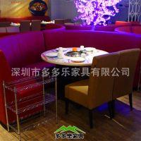 布艺小沙发卡座 可拆洗咖啡厅 酒吧 茶餐厅 KTV卡座沙发 多多乐家具厂家直销