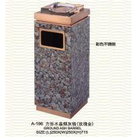 写字楼电梯口摆放的单个烟灰桶 大理石垃圾桶