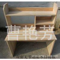 学生床上书桌书架组合宿舍电脑桌懒人床头尾柜储物架实木M073