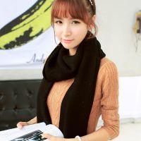 B550 韩版2014条纹纯色针织毛线斜角围巾 女士秋冬加厚保暖围脖
