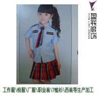 幼儿园园服小学生校服表演服装来图来样定做加工生产 直接工厂