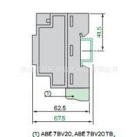 施耐德 PLC Twido 扣入式接线端子 20 个螺钉端子ABE7BV20
