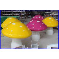 树脂玻璃钢仿真植物蘑菇雕塑 定做仿真园林熊猫等各种动物卡通