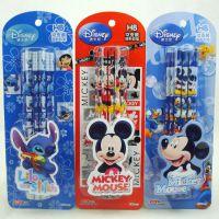 正品授权迪士尼 学生用品 12支装HB圆形 铅笔 Z87162-1