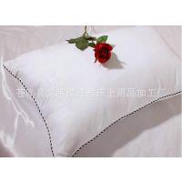 【厂家直销】好枕芯 正品磨毛压花枕头 单人枕头 羽丝棉 长方形枕