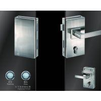 供应酒店,物业,学校房间玻璃门锁不锈钢竖方双边单执手锁超b级锁芯JU-W518A玻璃门锁