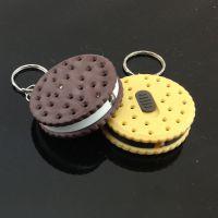 精美卡通仿真饼干钥匙扣 带灯发光匙扣挂件 新奇特创意礼品 14
