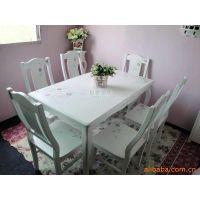 韩式公主乡村田园玫瑰手绘餐桌椅/一桌六椅/BY09001B