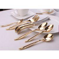 高档餐具 电镀不锈钢刀叉勺 勺子 高端大气上档次 五星级酒店必备