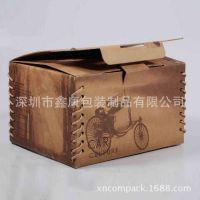 【爆款】咖啡色手提礼物盒 折叠式礼品盒 卡通纸盒 欢迎订做