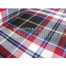 Competitive Price 180g/sm Twill Peached Plaid Cotton Yarn Dyed Fabric for T Shirt