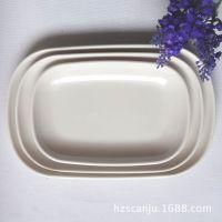 密胺餐具 仿瓷美耐皿纯色盘子 糕点小菜碟子 酒店餐厅用品新款