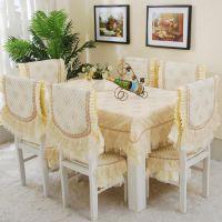 伊美 新款布艺餐椅垫 餐桌布布艺餐椅套坐垫 欧式桌布 厂家批发
